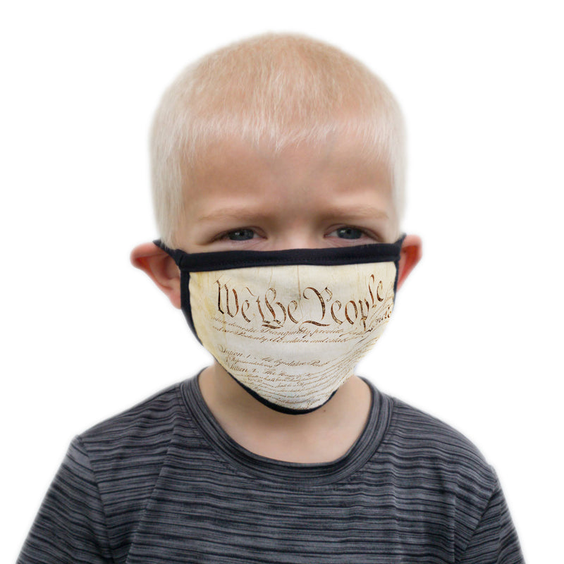 Buttonsmith We The People Child Face Mask with Filter Pocket - Made in the USA - Buttonsmith Inc.