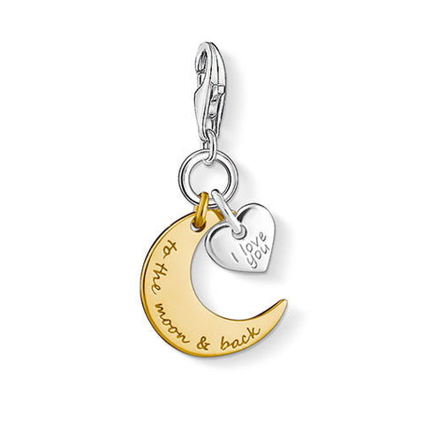 """I love you to the moon & Back"" Charm"