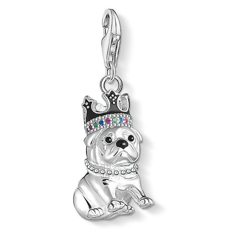 "CHARM PENDANT ""BULLDOG WITH CROWN"" - Tricia's Gems"