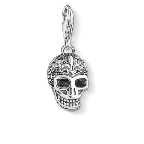 "CHARM PENDANT ""SKULL WITH LILY"" - Tricia's Gems"