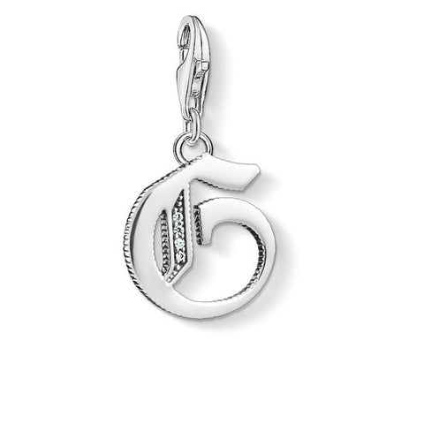"CHARM PENDANT ""LETTER G SILVER"" - Tricia's Gems"
