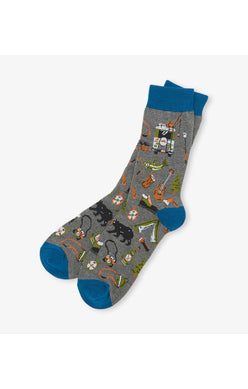 Retro Camping Men's Crew Socks - Tricia's Gems