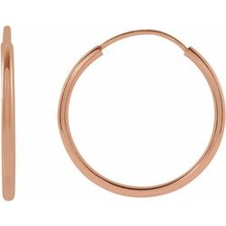 14K Rose 15 mm Flexible Endless Hoop Earrings | Stuller - Tricia's Gems