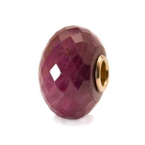 Ruby Bead With Gold Core - Tricia's Gems