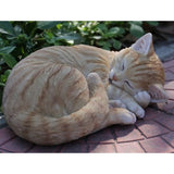 Orange Tabby Cat Sleeping Figurine - Tricia's Gems