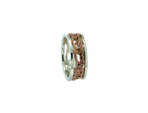 Awe Ring SS with 10k Rose Gold