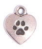 The Love My Dog charm is a 2-sided charm that comes in silver tone pewter and is a great way to show off your canine devotion. An easy to use lobster clasp comes with this charm which allows you to put it on where you want, and take it off when you want. Has a paw on the reverse side.