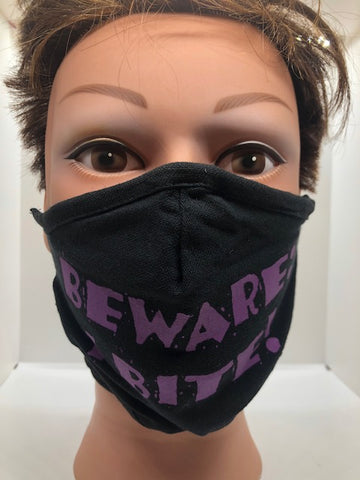 "Spooky Smiles Face Mask ""Beware I Bite"" - Tricia's Gems"