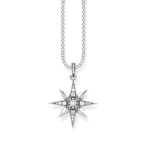 "NECKLACE ""ROYALTY STAR WHITE"" - Tricia's Gems"