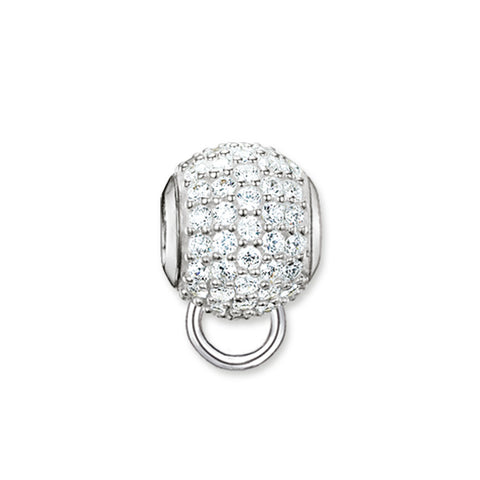 White Pave Charm Carrier - Tricia's Gems