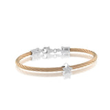 ITALGEM STEEL ROSE-S.STEEL-925 D-0.02CT STAR BABY-BANGLE