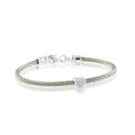 ITALGEM STEEL S.STEEL-925 D-0.02CT PAVE-HEART BABY BANGLE