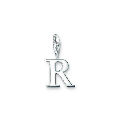Letter R Silver Charm - Tricia's Gems