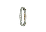 Window to the Soul Bangle, Sterling Silver+10k Diamond tw 0.06 ct