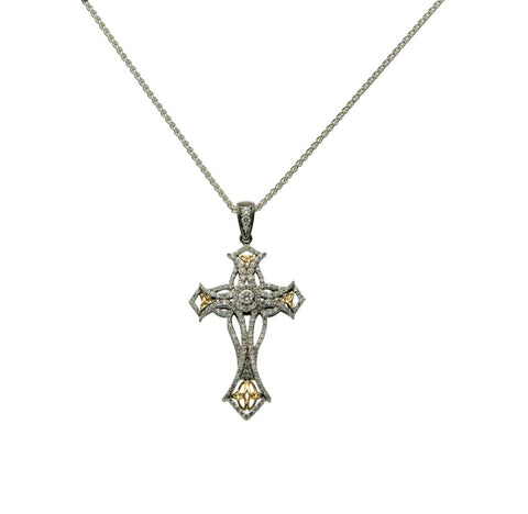 Celtic Cross CZ Pendant | Keith Jack - Tricia's Gems