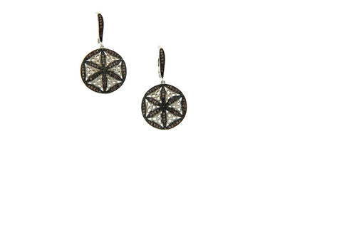 CZ Knight and Day Round Leverback Earrings | Keith Jack - Tricia's Gems