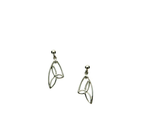 Trinity Post Earrings, Butterfly Wing | Keith Jack - Tricia's Gems