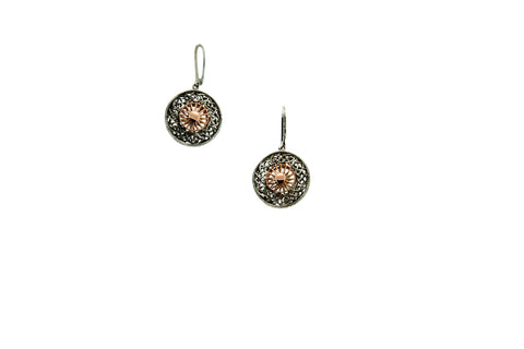 Ashen Rose  Earrings | Keith Jack - Tricia's Gems