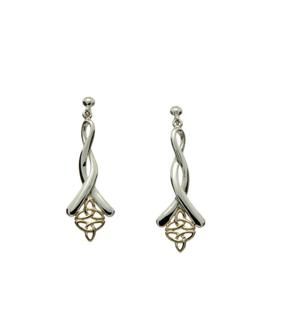 Trinity Knot Double Post Earrings | Keith Jack - Tricia's Gems