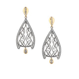 Dew Drop Gateway Post Earrings-S/sil + 10k CZ Dew Drop Gateway Post Earrings