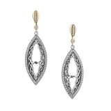 Intertwining Gateway Post Earrings-S/sil + 10k CZ