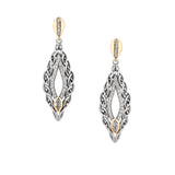 Eternity Gateway Post Earrings-S/sil + 10k CZ Eternity Gateway Post Earrings