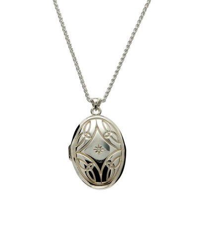 Trinity Diamond Locket Set, Large | Keith Jack - Tricia's Gems
