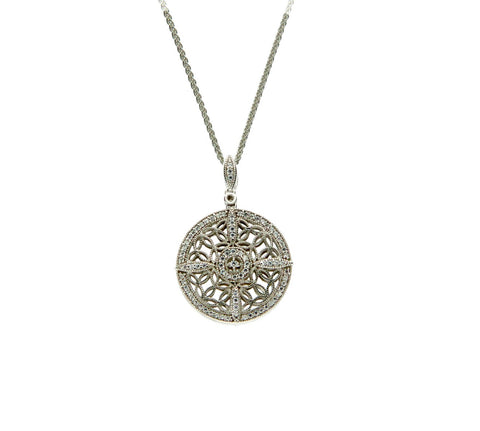 CZ Knight and Day Collection Round Pendant | Keith Jack - Tricia's Gems