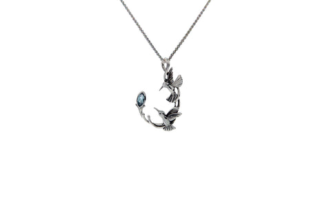 Double Hummingbird Hook Pendant