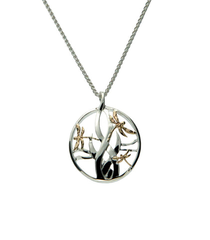 Dragonfly in Reeds Small Pendant | Keith Jack - Tricia's Gems