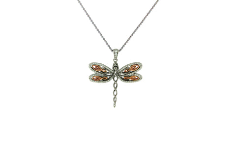 Single Dragonfly Pendant | Keith Jack - Tricia's Gems