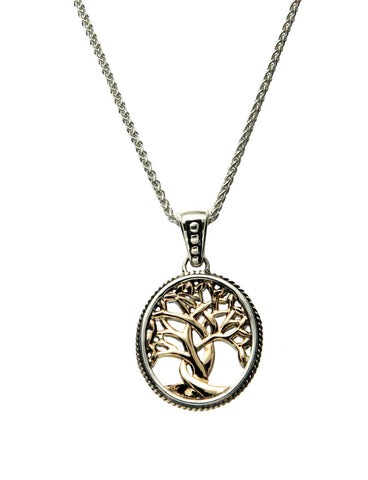 Tree of Life Pendant Small,  SS+10k Gold - Tricia's Gems