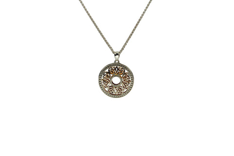 Window to the Soul Beaded Pendant, Sterling Silver+22k Gilded | Keith Jack - Tricia's Gems