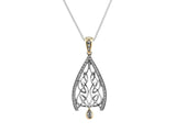 Dew Drop Gateway Small Pendant S/sil + 10k CZ S/sil + 10k CZ