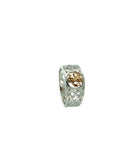 Lion Rampant Ring(Tapered) S/sil+10k Sizes 5-13
