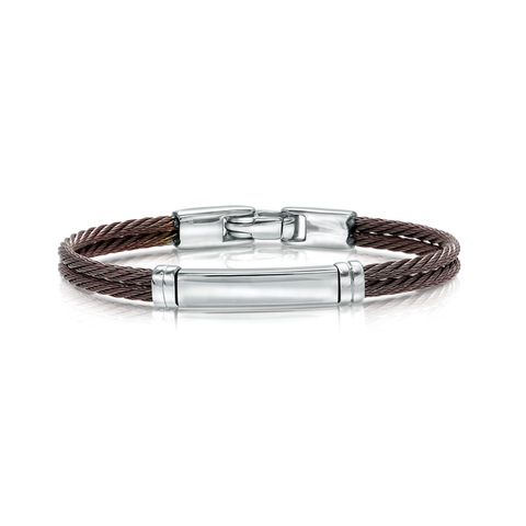 ITALGEM STEEL COFFEE CABLE BRACELET