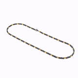 BLACK-YELLOW-IP FANCY LINK MATTE NECKLACE