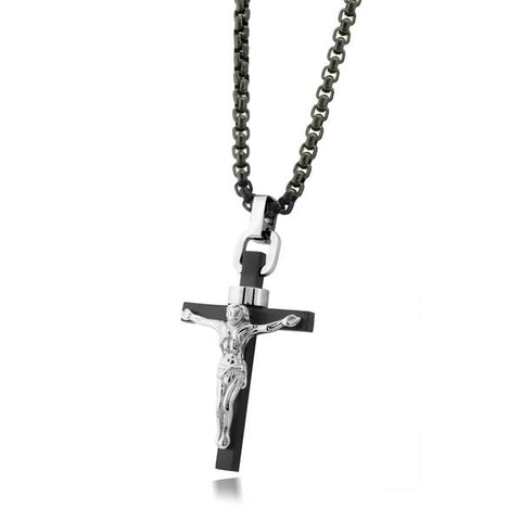 BLACK-IP JESUS CROSS BLACK