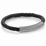 GUN-IP BLACK BOLO LEATHER BRACELET