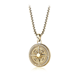 GOLD-IP NORTH STAR ROUND PENDANT