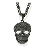 BLACK-IP DETAILED SKULL NECKLACE