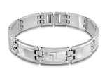 GREEK KEY LASER MEN'S BRACELET