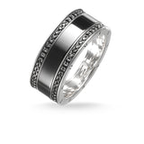 Black Ceramic Pavé Ring