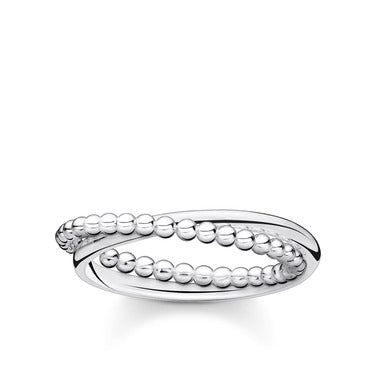 Ring Double Dots Silver | Thomas Sabo - Tricia's Gems