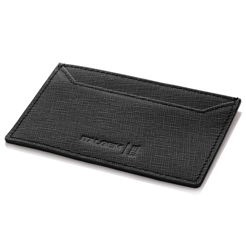 BLACK GENUINE LEATHER SLIM WALLET