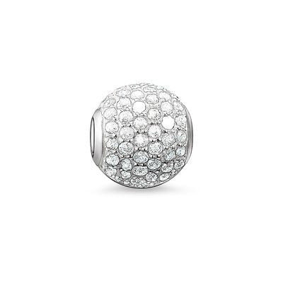 White Pave Bead - Tricia's Gems