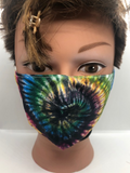 Tie Dye Fashion Mask | 3 layers with optional Filter - Tricia's Gems