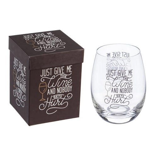 Stemless Wine Glass | Evergreen - Tricia's Gems