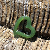 Jade Floating Heart Pendant - Tricia's Gems
