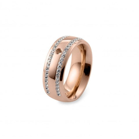 Basic Lecce Rose Gold Plated Ring - Tricia's Gems
